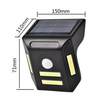 Applique solaire LED à détecteur de mouvement dimensions