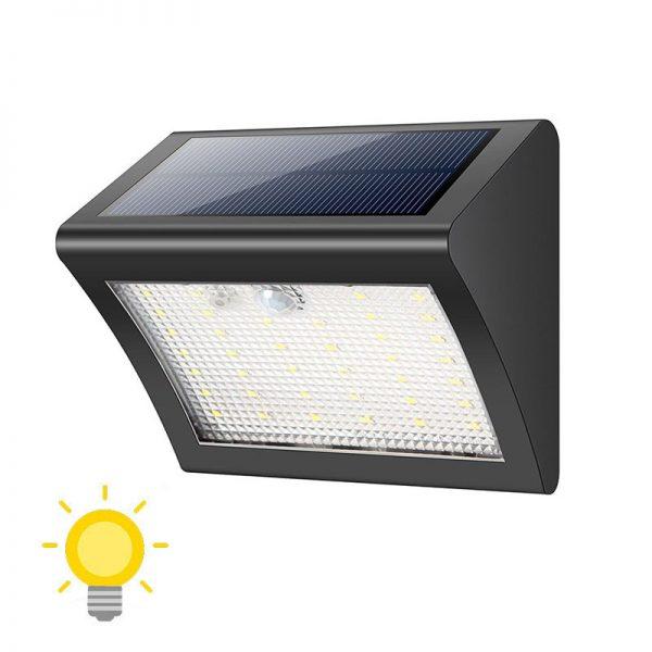 Lampe murale solaire LED avec détecteur de mouvements