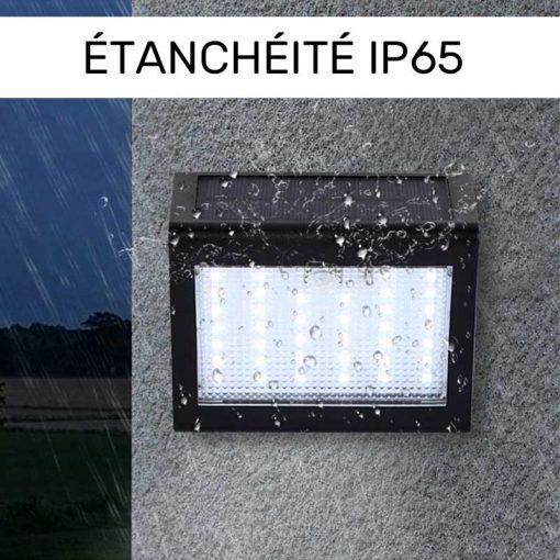 Lampe murale solaire LED avec détecteur de mouvements étanche