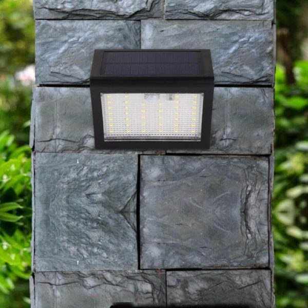 Lampe murale solaire LED avec détecteur de mouvements murale