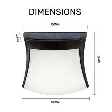 applique solaire blanc chaud dimensions