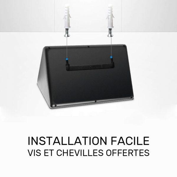Applique solaire extérieur avec télécommande installation