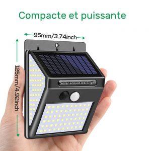Applique solaire extérieur à détection terrasse