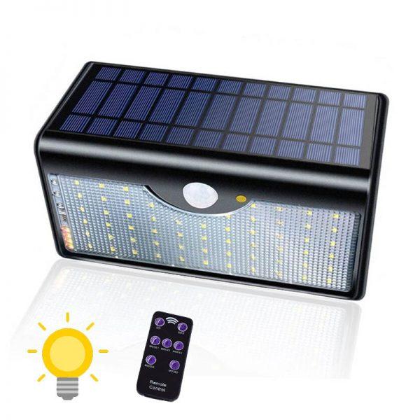 Applique solaire extérieur avec télécommande