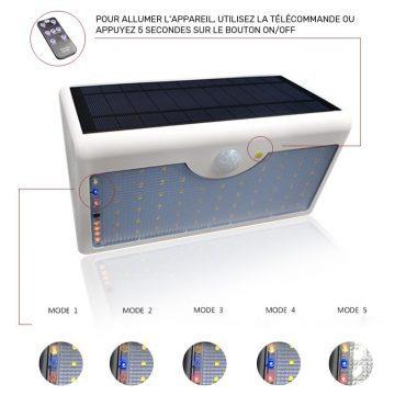 Applique solaire extérieur avec télécommande utilisation