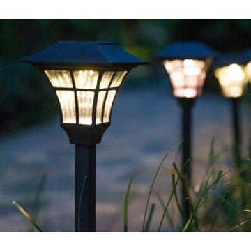 Balise LED solaire extérieur jardin