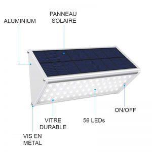 Éclairage extérieur solaire pour terrasse pas cher