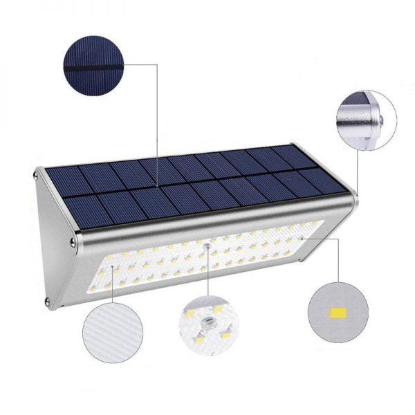 Éclairage extérieur solaire pour terrasse led