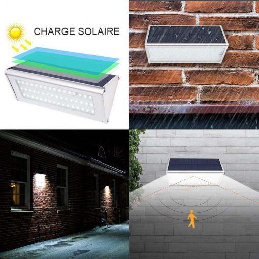 Éclairage extérieur solaire pour terrasse puissante