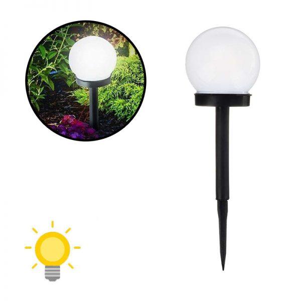 Lampe solaire à planter ronde extérieur