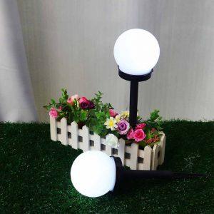 Lampe solaire à planter ronde extérieur pas cher