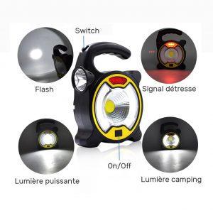 Lampe de camping rechargeable solaire pas cher