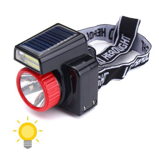 Lampe frontale solaire