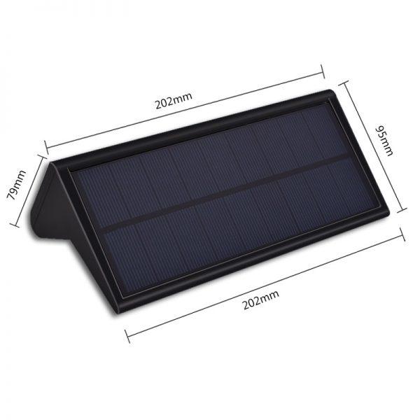 lampe solaire 800 lumens extérieur