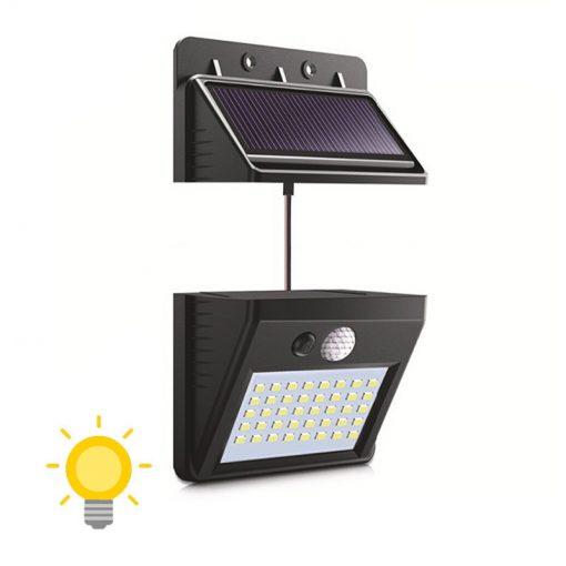 lampe solaire déportée avec fil