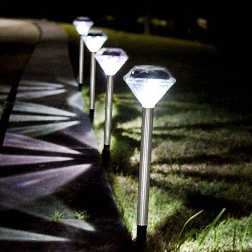 lampe solaire décoration a planter pas cher