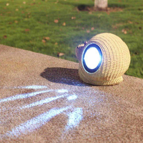 Lampe solaire escargot led