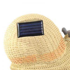 Lampe solaire escargot dos