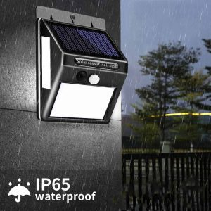 Lampe solaire extérieur 100 LED étanche