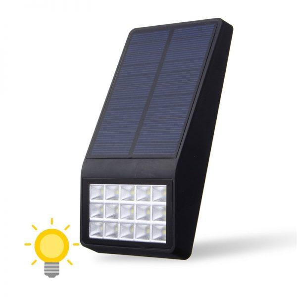 Lampe solaire extérieur plate