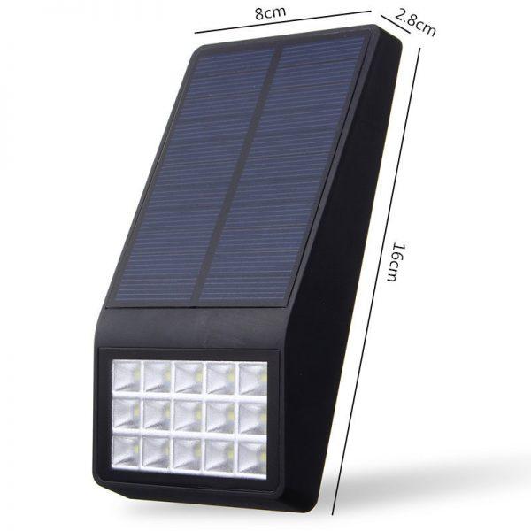 Lampe solaire extérieur plate dimensions