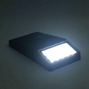 Lampe solaire extérieur plate led