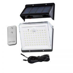 Lampe solaire extérieur télécommande panneau déporté