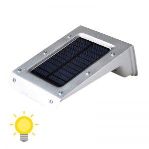 lampe solaire inox