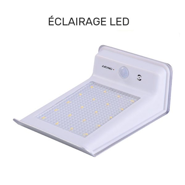 lampe solaire inox led