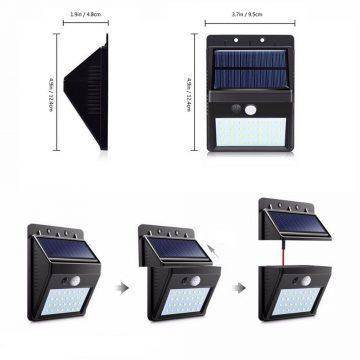 lampe solaire avec fil jardin