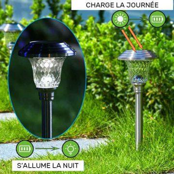 lampe solaire jardin décorative