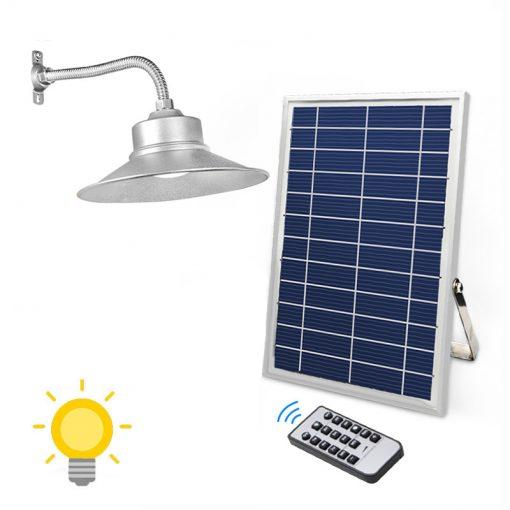 lampe intérieure solaire puissante avec panneau déporté