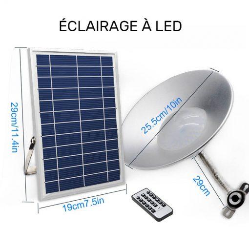 lampe intérieure solaire puissante led