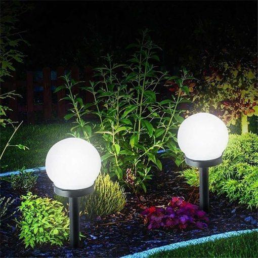 Lampe solaire à planter ronde extérieur etanche
