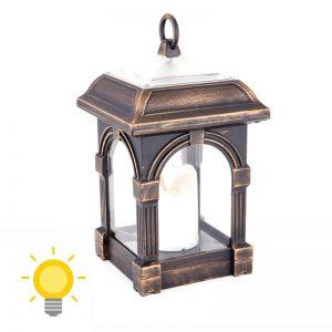 lampe solaire rustique