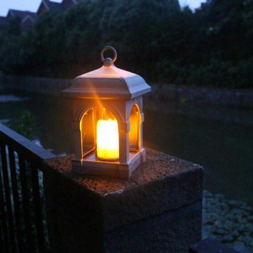 lampe solaire rustique à suspendre