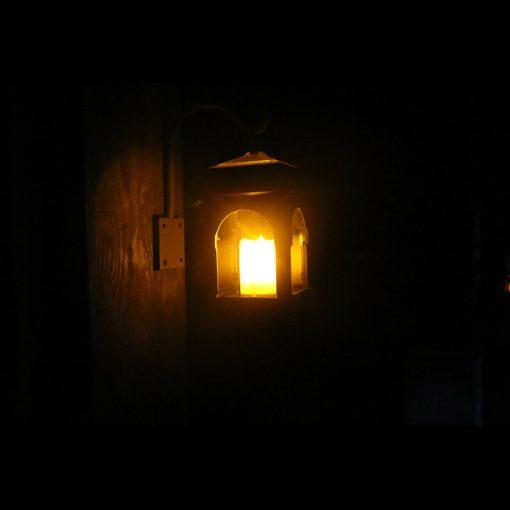 lampe solaire rustique effet flamme