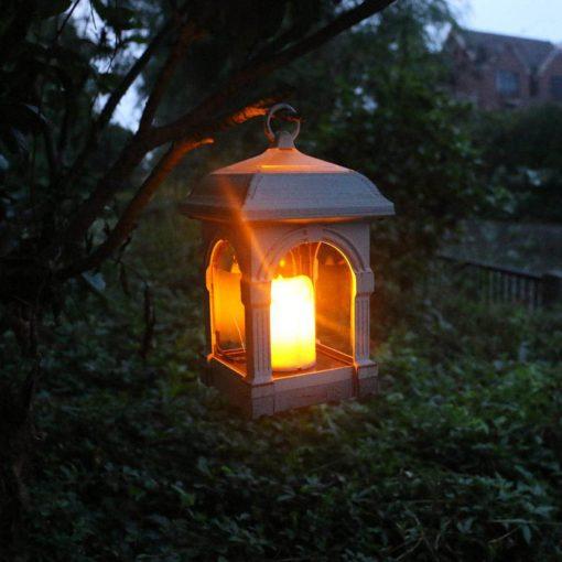 lampe solaire rustique led