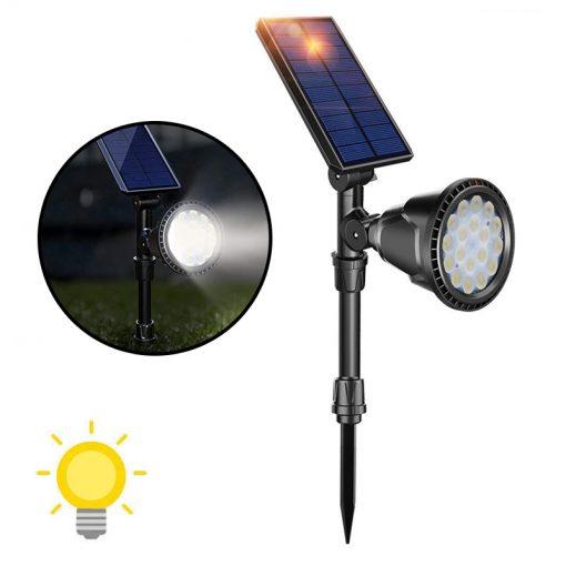 Lampe solaire sur piquet