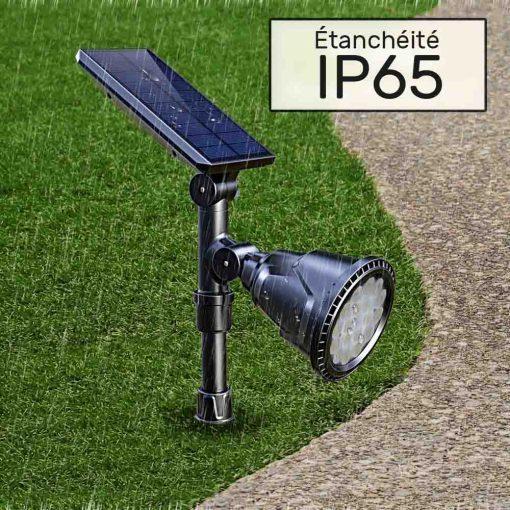 Lampe solaire sur piquet ip65