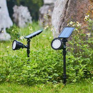 lampe solaire sur piquet led