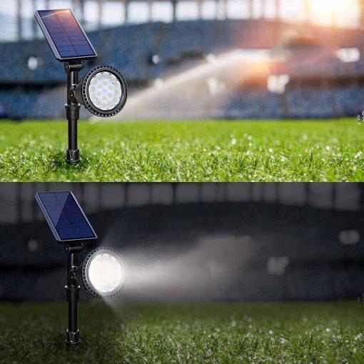 Lampe solaire sur piquet puissant
