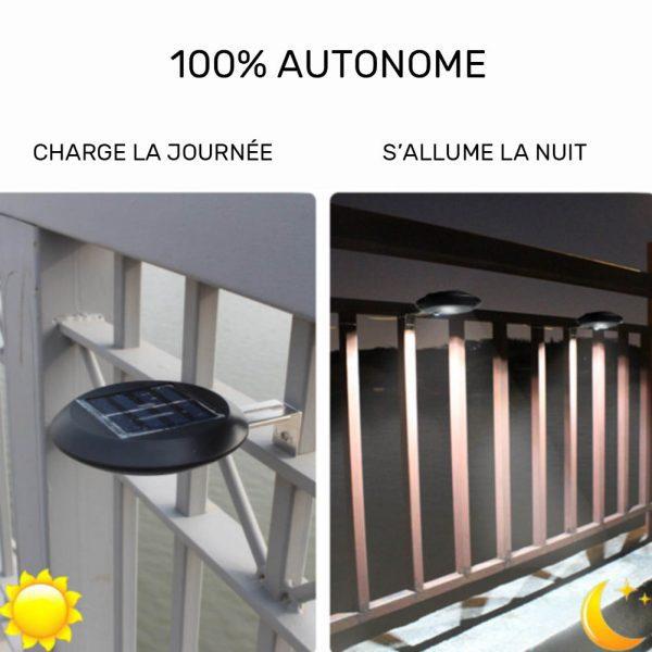 lampe solaire barrière extérieur