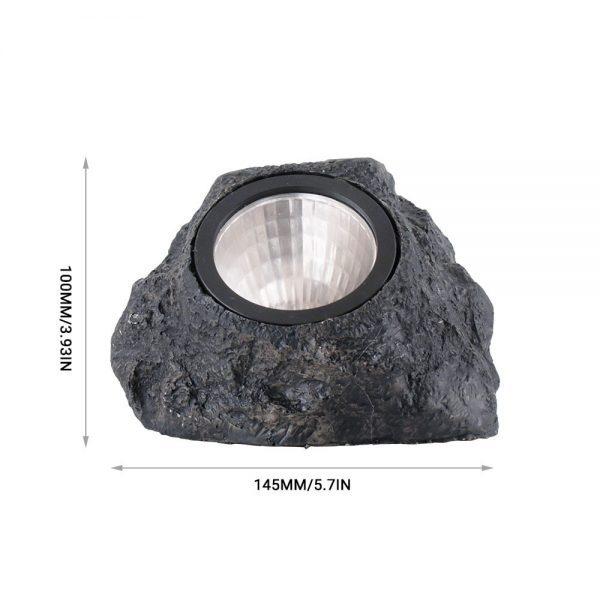 lampe solaire rocher dimensions