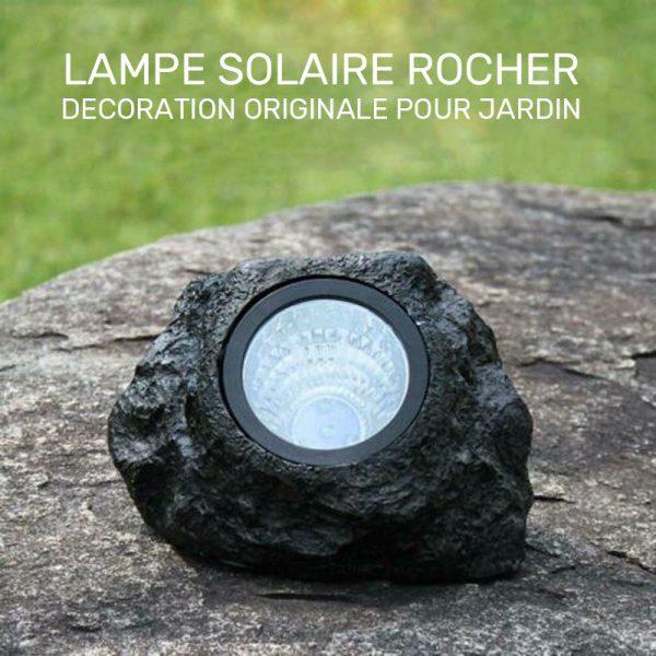 lampe solaire rocher extérieur