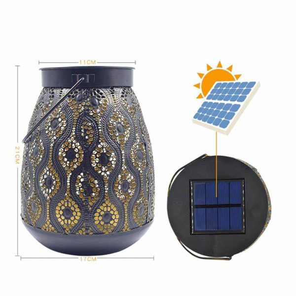 Lanterne solaire de jardin à suspendre dimensions