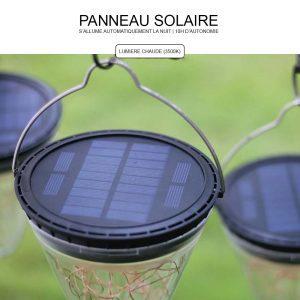 Lanterne solaire jardin LED autonome