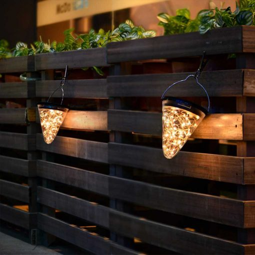 Lanterne solaire jardin LED déco