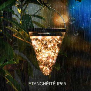 Lanterne solaire jardin LED étanche