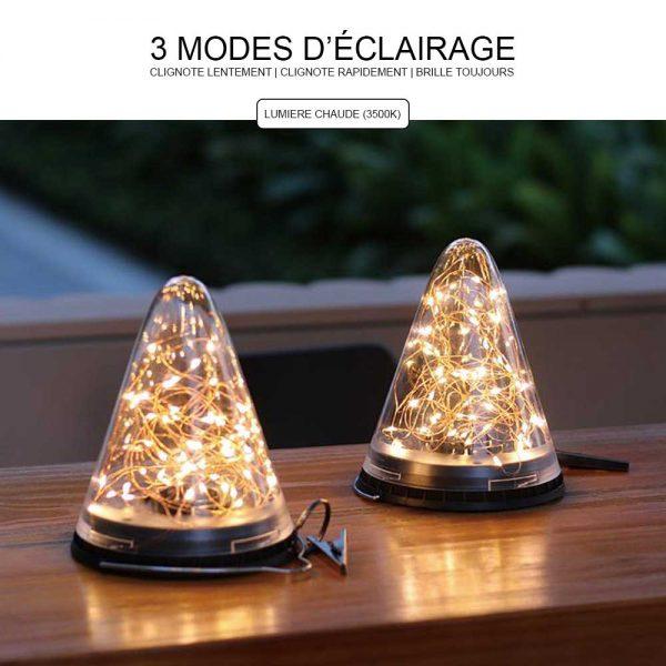 Lanterne solaire jardin LED éclairage